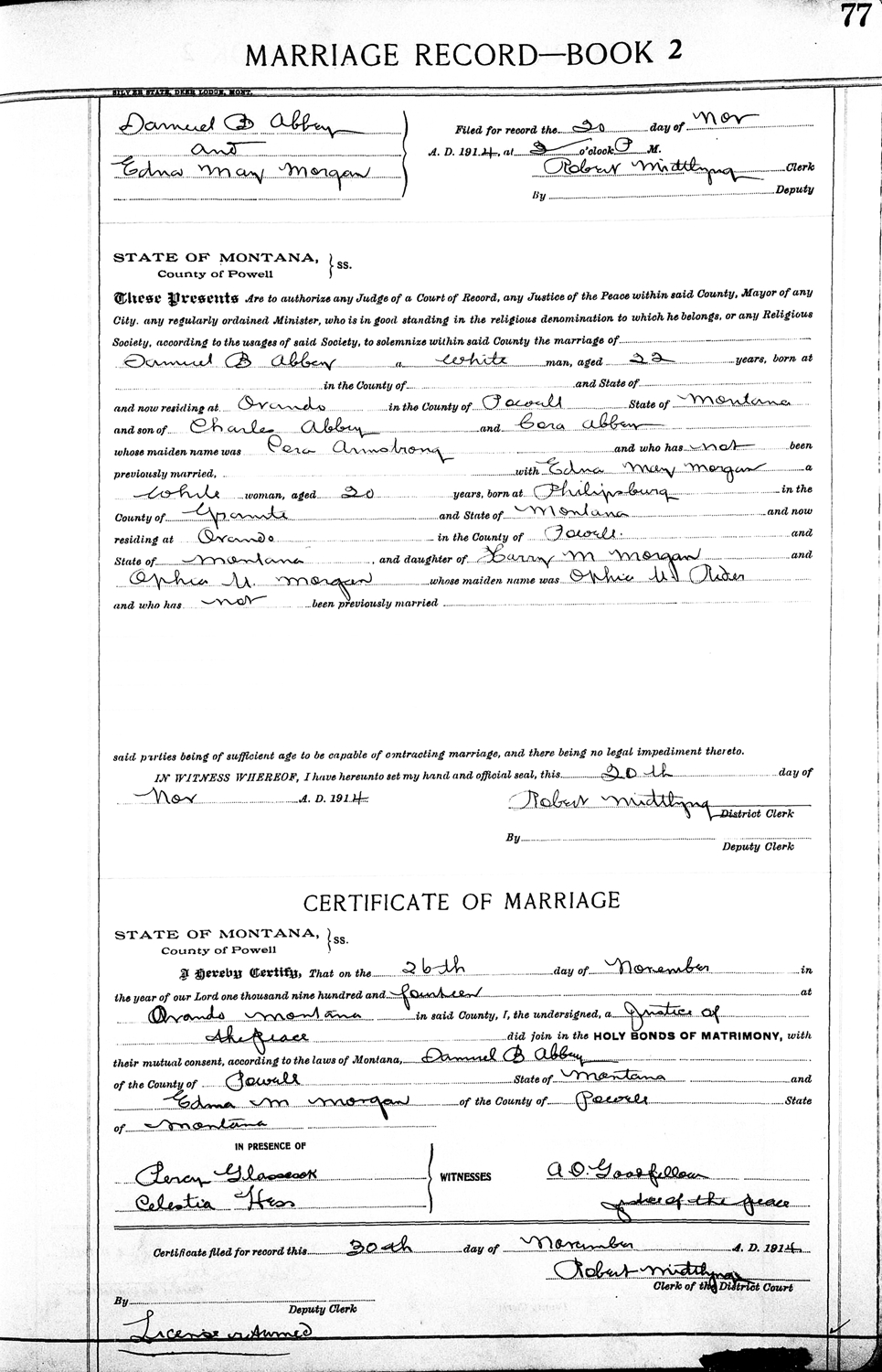 Samuel benton abbey the wwi draft registration report dated june 5 1917 shows sam b abbey age 24 born august 16 1892 in baraboo wi is a miner who is employed by aiddatafo Gallery
