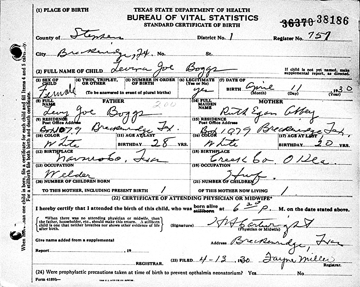Ruth egan abbey lavenia jo boggs birth certificate xflitez Image collections